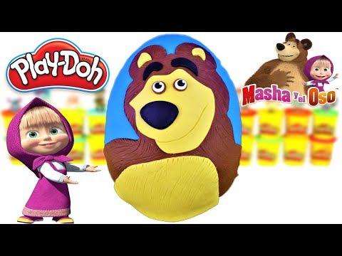 Huevo Sorpresa Gigante de Masha y el Oso de Plastilina Play Doh en Español