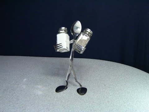 How to make Fork and Spoon Man/ Salt and Pepper Shakers Holder DIY