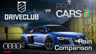 DriveClub vs Project CARS Build 887 - Rain Weather Comparison