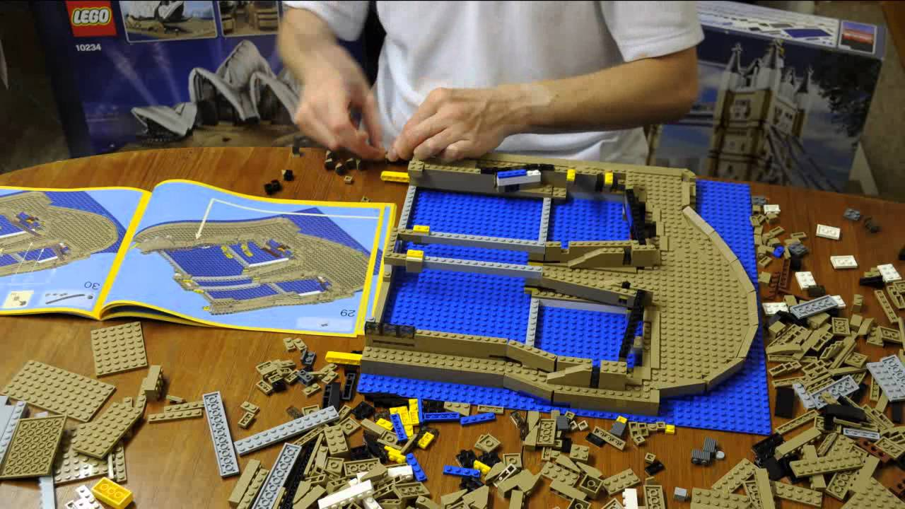 Lego 10234 sydney opera house time lapse build youtube for Time to build a house