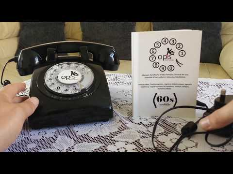 Retro phone Show opis 60s rotary dial mobile phone