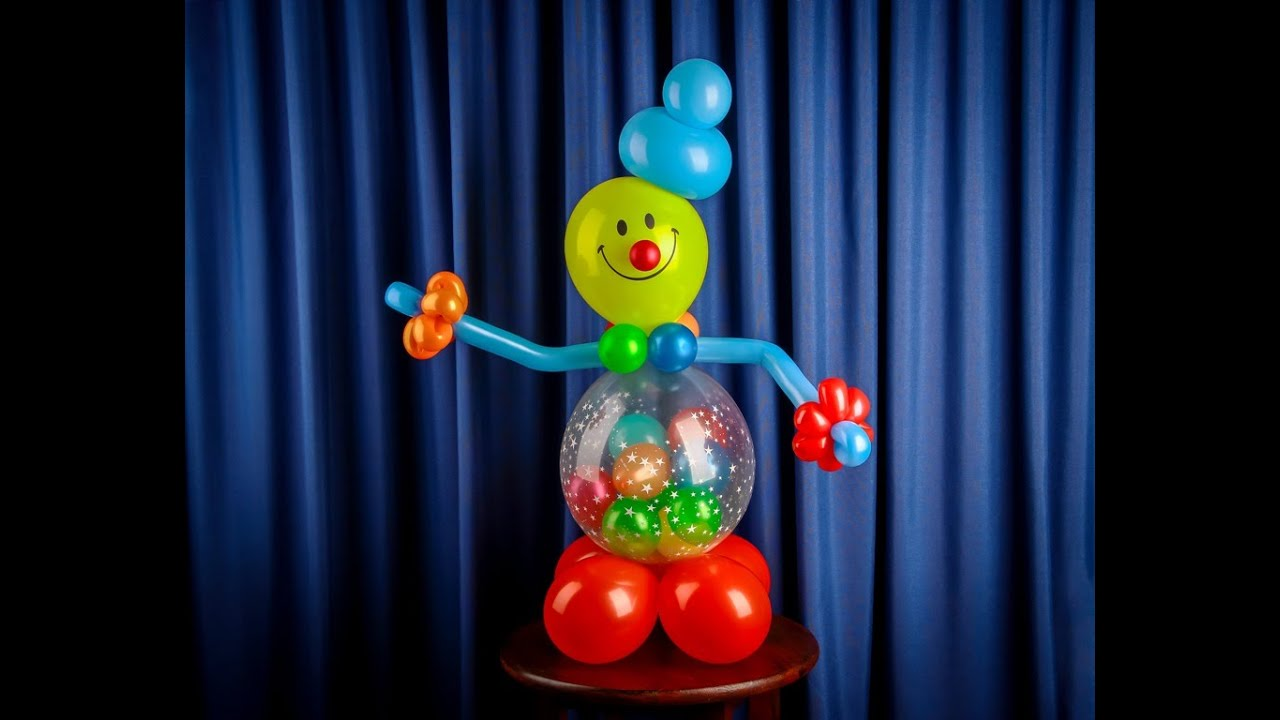 Как сделать клоуна из воздушных шаров фото 603