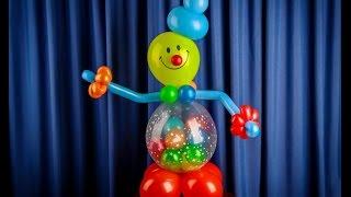 Клоун -  погремушка из воздушных шаров своими руками(В этом видео уроке показано как своими руками сделать клоуна. Я его обозвал - клоун погремушка, поскольку..., 2016-07-15T16:59:53.000Z)