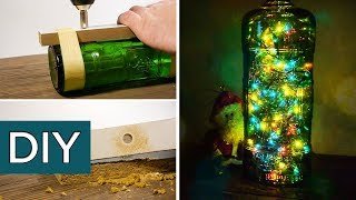 как сделать светильник из бутылки своими руками