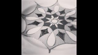 Точечная роспись. Декоративная тарелка Элен