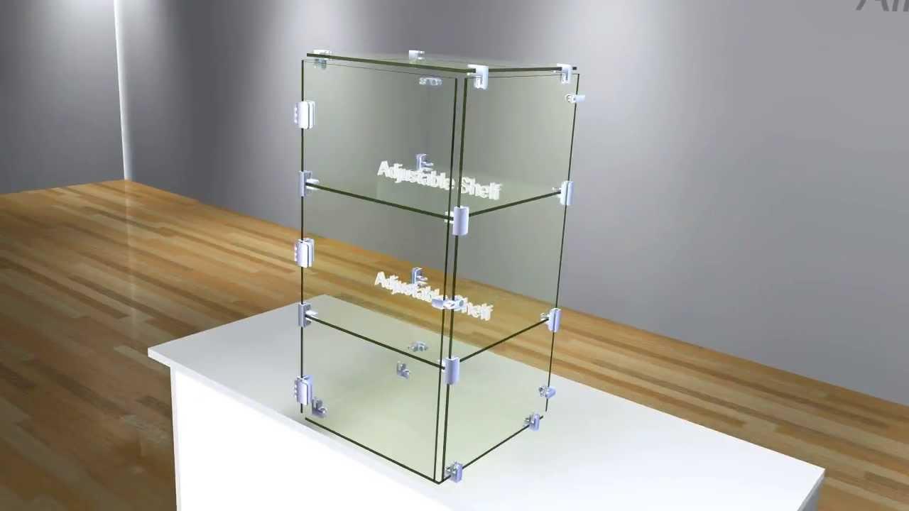 DIY 24 inch High x 12 inch Wide Countertop Glass Showcase - YouTube