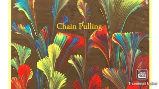(429) How to Chain Pull Acrylic Paint Pouring