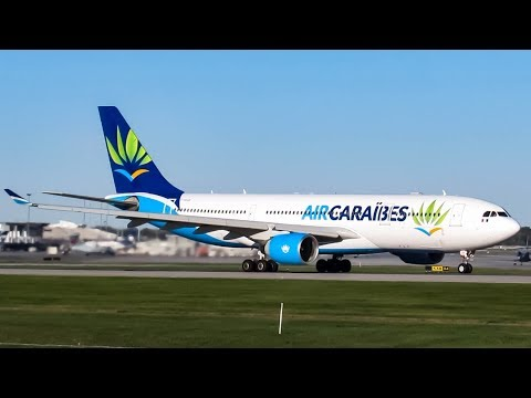 Air Caraïbes Airbus A330-200 (A332) landing & departing Montreal (YUL/CYUL)