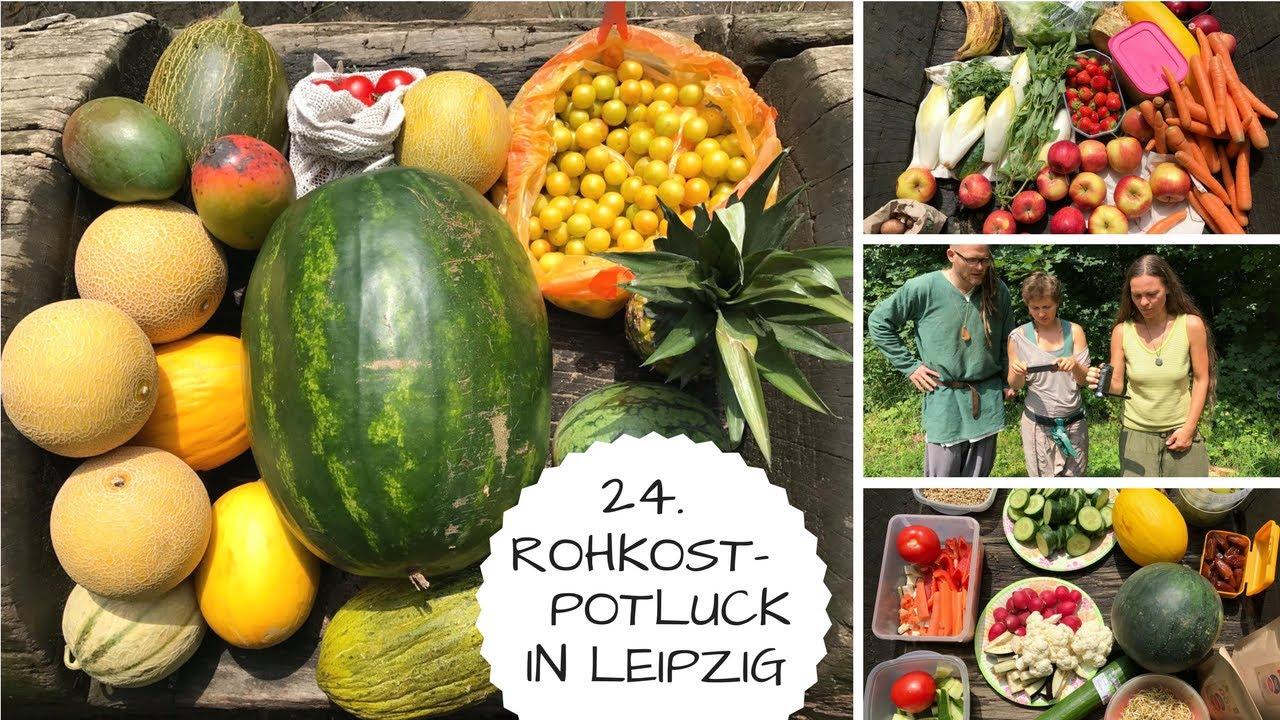 Impressionen vom Leipziger Rohkostpotluck im Juli ☀️
