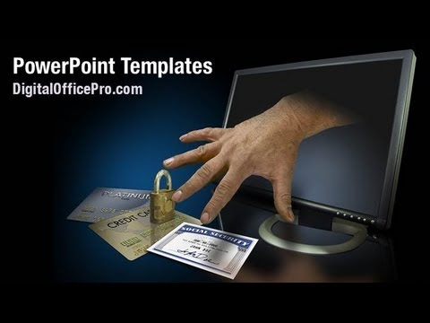 Online Identity Theft PowerPoint Template Backgrounds DigitalOfficePro 08750W YouTube