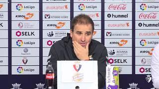 """Jagoba Arrasate: """"Para estar arriba necesitamos ganar fuera de casa"""""""