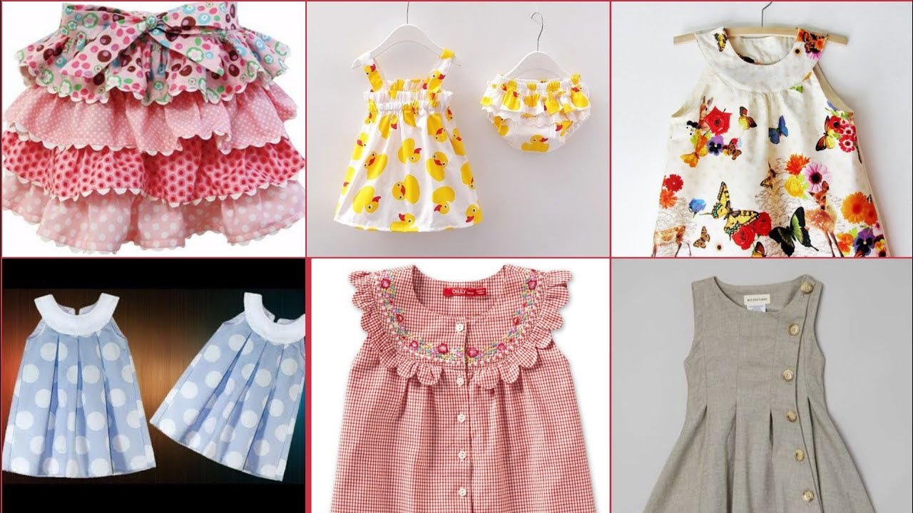 Round Yoke Jhabla Frocks Designs Collection For Baby Girls