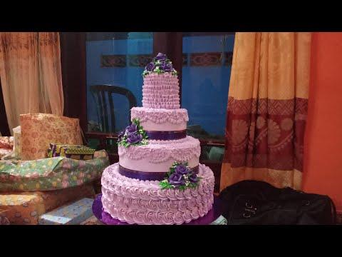 Wedding Cake 4 Tingkat Ungu