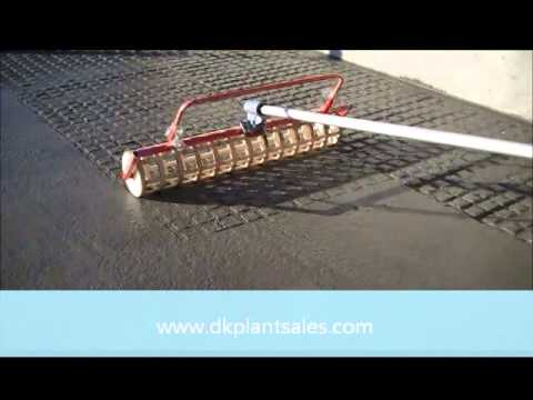 Roller For Grooving Concrete Youtube