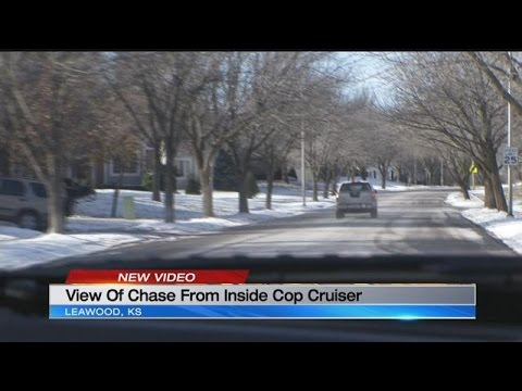 Incredible perspective of wild police chase from inside Leawood cruiser