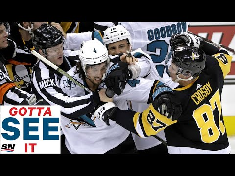GOTTA SEE IT: Sidney Crosby Ignites Brawl Between Pittsburgh Penguins & San Jose Sharks