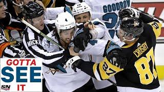 GOTTA SEE IT: Sidney Crosby Ignites Brawl Between Pittsburgh Penguins & San Jose Sharks