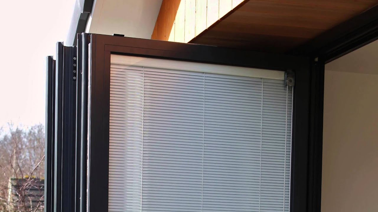 Discover Bi Fold Door Blinds Fitted Between Glass Youtube