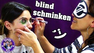 Makeup Challenge | schminken mit verbundenen Augen !!! | Family Fun