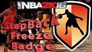 NBA 2K16 Tutorial #3 - How To Get the Stepback Freeze Badge Easy