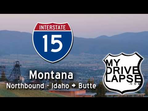 Interstate 15 through Montana: Idaho Line to Butte, with Bugs