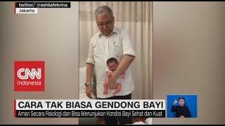 Cara Tak Biasa Gendong Bayi Ala Dokter Ali Sungkar