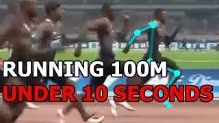 RUNNING ANALYSIS: How Justin Gatlin Runs the 100m Under 10 seconds