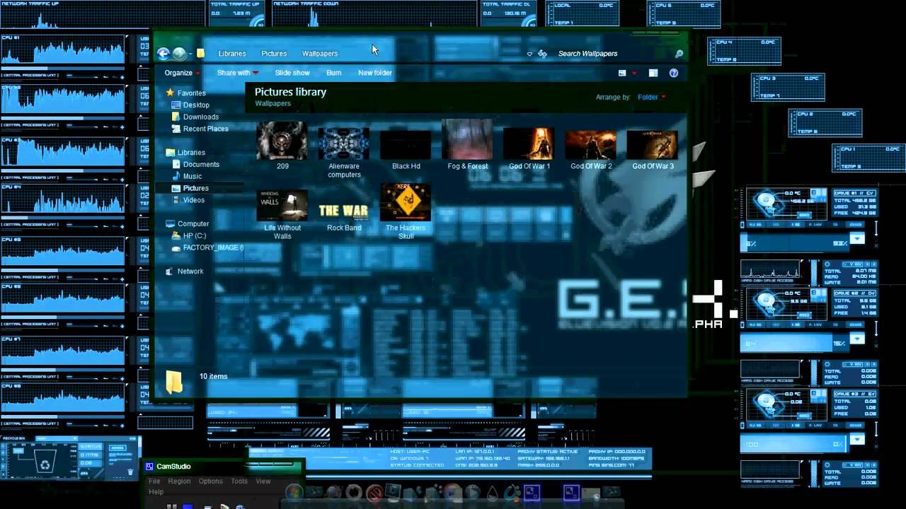 my desktop (systems,hackers,free all).avi - youtube