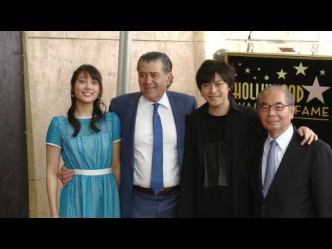 Power Rangers || Star Ceremony on the Hollywood WOF for Haim Saban Atmosphere  || SocialNews.XYZ