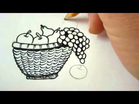 how to draw glass in a bowl
