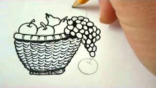 How To Draw A Bowl Of Fruit