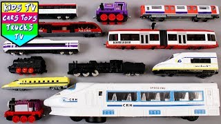 Learn Types of Trains For Kids Children Babies Toddlers | Trains For Kids | Transport Vehicle | Kids
