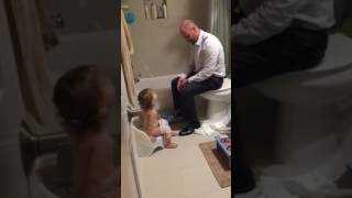 Practicing with potty