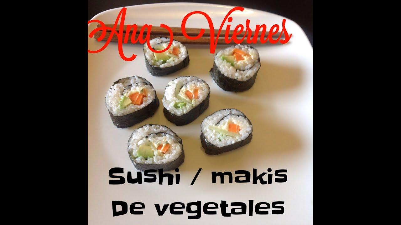 receta fcil y rpida como hacer rollos de sushi de vegetales youtube
