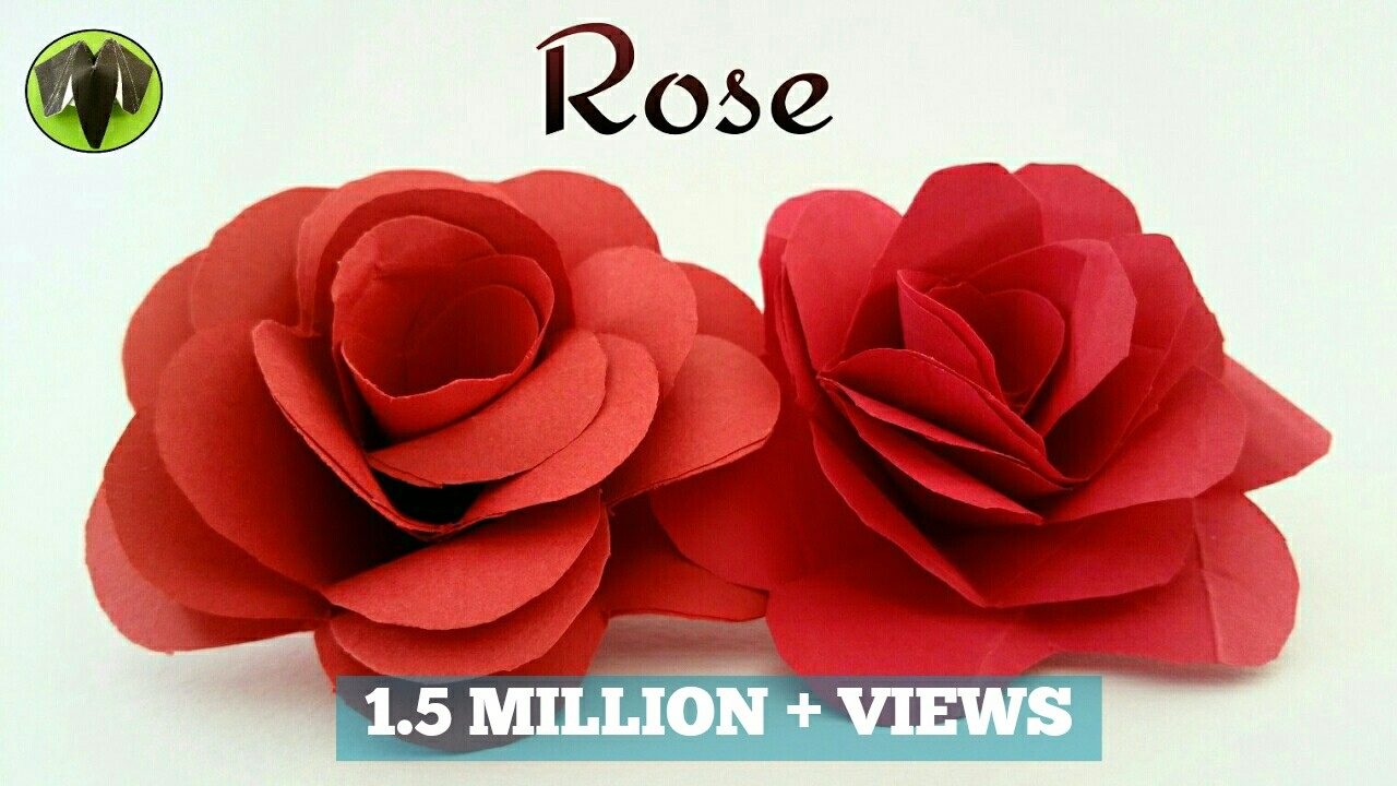 how to make a easy realistic paper valentine rose paper crafts tutorial