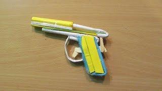how to make a paper nano gun that shoots paper bullet easy tutorials