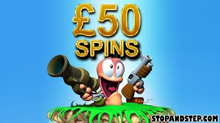 Worms Slot Machine £50 SPINS!!! LIVE PLAY