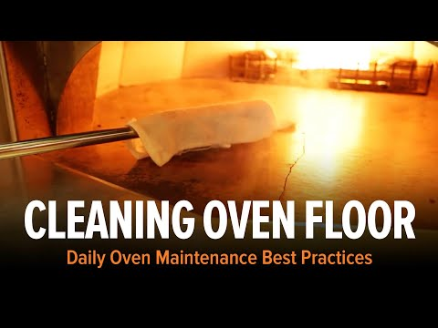 Cleaning a Wood Stone Oven Floor