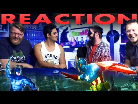 eric shane calvin and aaron react to and place a slap bet on batman vs captain america death battle by screw attack watch the deathbattle here batman iron man fanboy