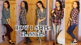 How I Style Flannels / Plaid / Check Shirts | Ola Lily