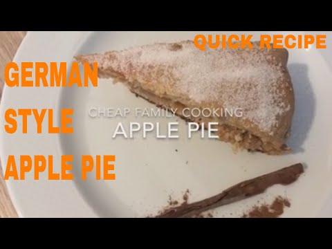 German Style Apple Pie
