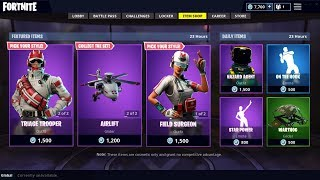 NEW DOCTOR/MEDIC SKINS + HELICOPTER GLIDER IN FORTNITE ITEM SHOP