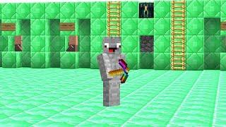 die ganze Base besteht aus Emerald Blöcken.. Minecraft LUCKY BLOCK BEDWARS