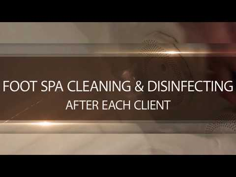 Whirlpool Foot Spa Cleaning After Each Client