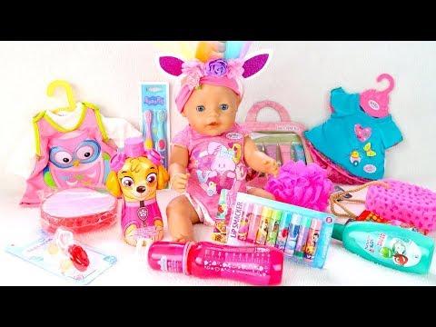 КАК МАМА и Беби Бон Алиса Достают Покупки из Пакета Мультик для детей 108мама тиви