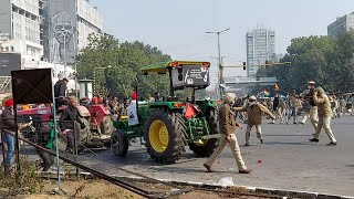 Chaos across Delhi as farmer groups break barricades, clash with cops