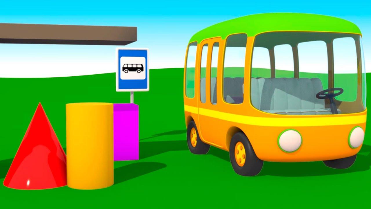 Мультик раскраска. Грузовичок Лева. Мультфильм про Автобус ...
