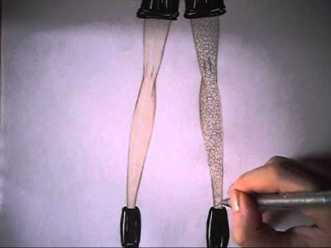come disegnare il pizzo su un abito