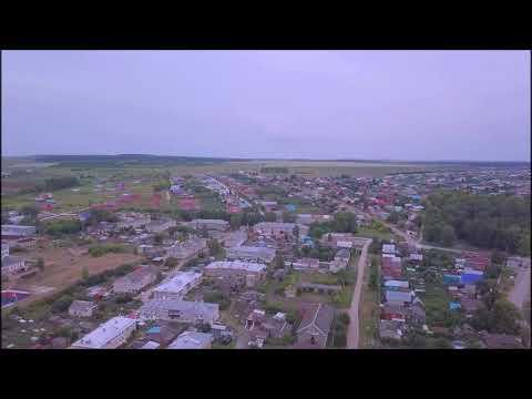 город Малмыж с высоты полета