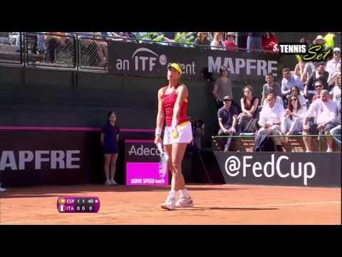 Garbine Muguruza vs Roberta Vinci Highlights HD Fed Cup 2016